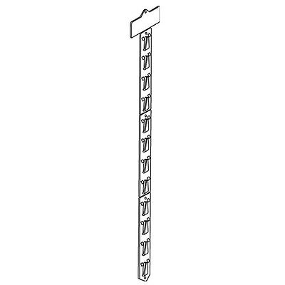 Set Of 10 Merchandising Strip With Header And Mounting Accessories Hooks