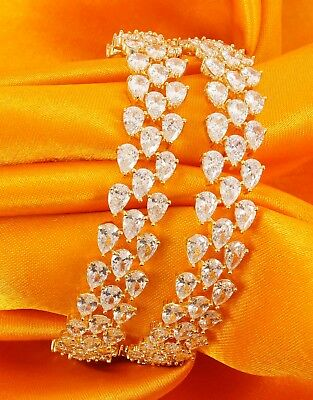 Indian Bollywood Partywear Traditional American Diamond 12 Pcs Bangle Jewelry