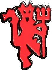 Manchester United FC Official Football Gift Red Devil Enamel Pin Badge