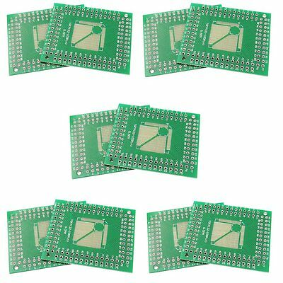 10PCS QFP/TQFP/FQFP/LQFP 32/44/64/80/100 to DIP Converter Adapter Pitch 0.5/0.8m