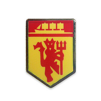 Manchester United FC Official Football Gift Red Devil & Ship Enamel Pin Badge