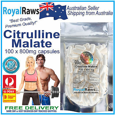 Best Quality Citrulline Malate 100 x 800mg caps pre-workout pump muscle builder