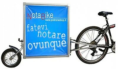 PolironeShop NOTABIKE Trolley, Trailer For Bicycle Advertising Sign