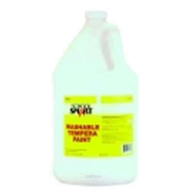 School Smart 1 Gal. Non-Toxic Washable Tempera Paint, White
