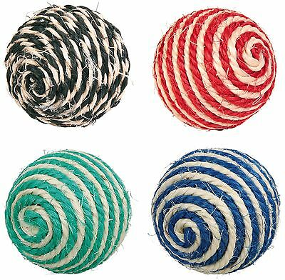 Sisal Cat Scratching Ball Toy with Rattle 6cm