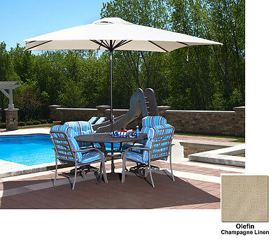8' x 10' Rectangular Market Umbrella - Champagne