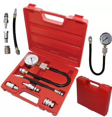 Automotive Petrol Engine Compression Tester Kit Valve Timing Gauge Cylinder New