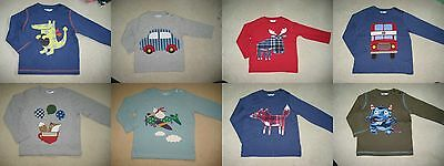 Baby Boden Tshirt Top 0-3 years applique & print 12 designs Long Sleeve