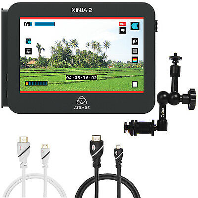 Atomos ATOMNJA003 Ninja-2 10-Bit HDMI DSLR Video Hard Disk Field Recorder Kit