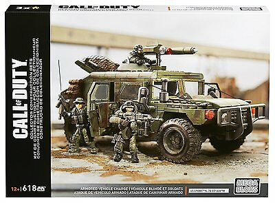 Mattel Mega Bloks CoD Call Of Duty Armored Vehicle Charge Bau und Konstruktionss
