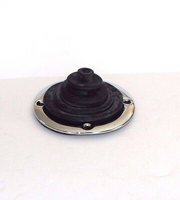 New Gearbox Shift Boot Grommet Transmission Boot W/ Chrome Retainer MGB 1968-80