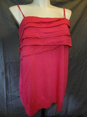 Lane Bryant cotton blend casual solid strapless pink Shirt plus size 14 cami.