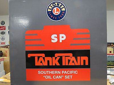 """Lionel Southern Pacific (SP) """"Oil Can"""" SD-40-2 Tank Train Set , 6-31718, New C-9"""