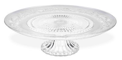 Home Basics NEW Clear Glass Cake Serving Elegant Serving Stand Plate - CP44593
