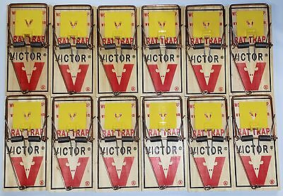 New Victor M326 Easy Set Pre-Baited Rat Trap Case of 12