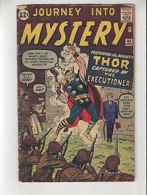 Journey Into Mystery #84/Silver Age Marvel Comic Book/2nd Thor/GD+