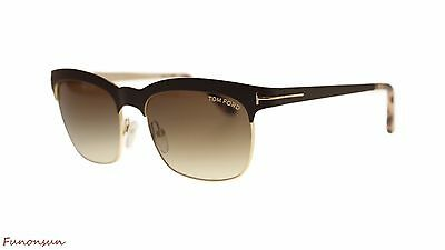 5ebdcf9eb0a Tom Ford Elena Women s Sunglasses FT0437 48F Dark Brown Gold Brown Gradient  Lens