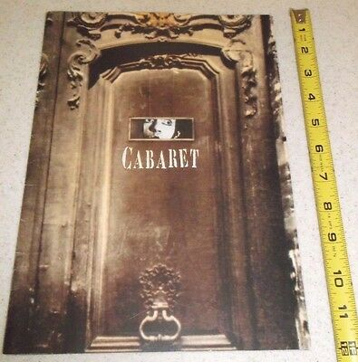 Vintage Theater Program-Cabaret