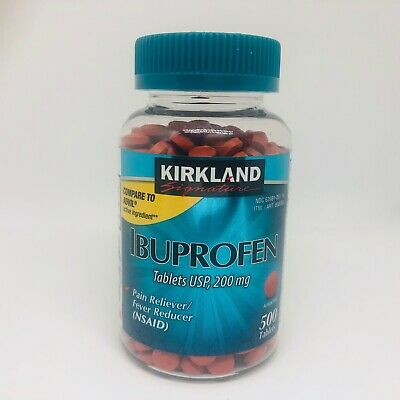 Kirkland Signature Ibuprofen 200mg 500-2000 tablets NSAID Fever/Pain USP
