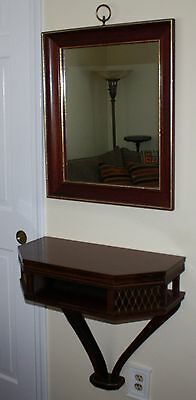 Turner Wall Accessory Fashion Plate Mirror W/ Wall Hanging Table