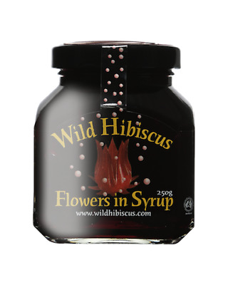 Wild Hibiscus Flowers in Syrup - 11 flowers 250g Jar