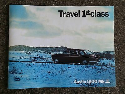 1968 Austin 1800 Mk2 Sales Brochure (Aust)   100% Guarantee.