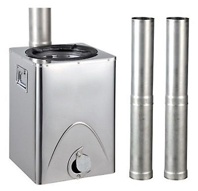Wood burning Stove Biomass Survivor Portable Chimney Gasifier Camping Tlud