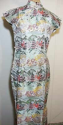 Vintage Chinese Evening Dress Womens S