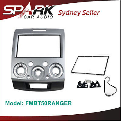Ford Ranger PJ PK Mazda BT50 BT-50 Double 2 DIN FACIA KIT Panel Fascia Dash