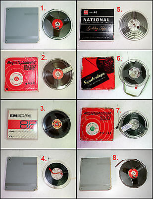 Assorted Pre-Recorded Reel to Reel 3 - 5 inch Tapes
