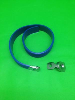 Biemme Replica Seat Strap - Blue - Fits Vespa and Lambretta GS SS SX LI GP TV