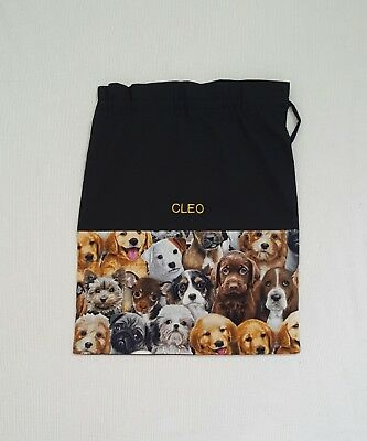 Free Name Dog All Over Design Personalised Embroidery Library Bag Kinder Fd