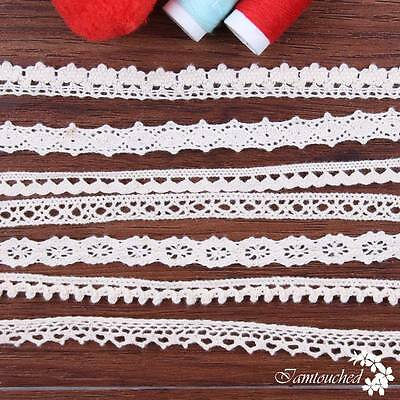 5Yards DIY Lace Trims Ribbon Cotton Crochet Edge Applique Fabric Sewing Craft