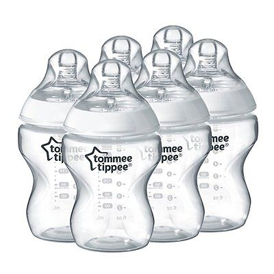 Biberón Tommee Tippee Closer to Nature 260 ml Pack de 6 Unidades Transparente