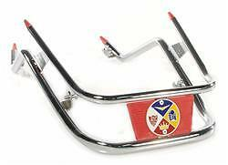CHROME / RED FRONT MUDGUARD BUMPER BAR fits LML STAR 125 4 STROKE AUTOMATIC