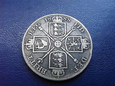 1888, Victorian Silver Double Florin, Spink# 3923