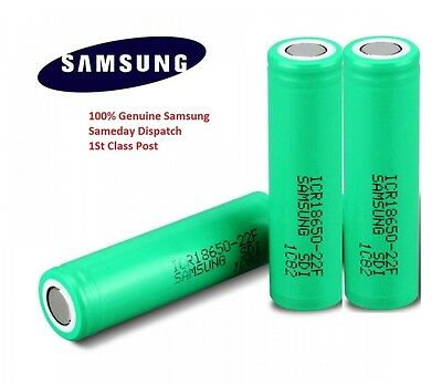 3x Genuine Samsung 18650 25R INR 3.7 2500mAh 20 35A Rechargeable Battery Vape