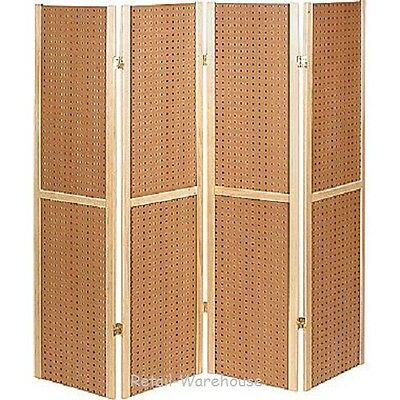 "Folding Pegboard Display Craft Display 4 Panel 5' Folds Flat 60"" H Peg Board"