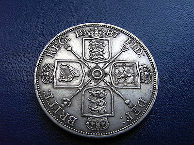 1887, Victorian Silver Double Florin, Spink# 3922