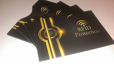 RFID Debit Credit Card Protection sleeves Pack of 4 Identity Theft Wallet Sleeve