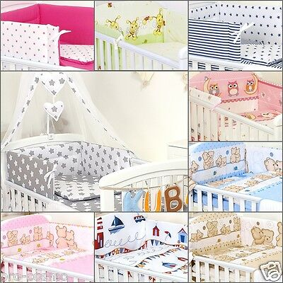 Many options- COT &COTBED BEDDING SET 5,6 ,9,11 PCS CANOPY,COT TIDY/ORGANISER