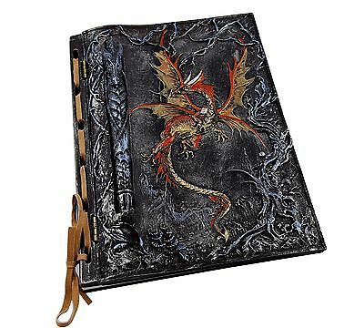 Dragon Book Notebook Journal Diary Hard Cover with Inset Pen Ornament 21 cm