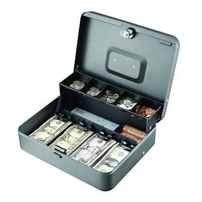 STEELMASTER Tiered (Cantilever) Cash Box, Gray, 2216194G2