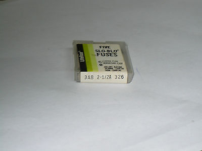 Littelfuse 3AB 2-1/2A 326 Fuse, Box of 5, New