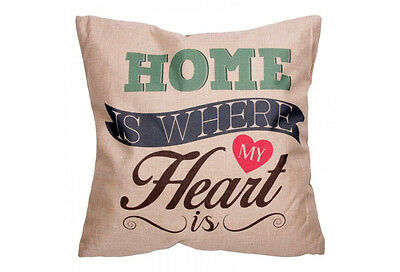 "Coussin déco ""Home is where my Heart is"" (43 x 43 cm)"