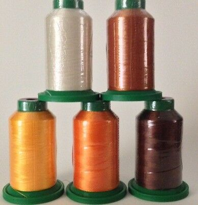 Fall Kit - 5 pack of Isacord Embroidery Thread - (New in wrapper)