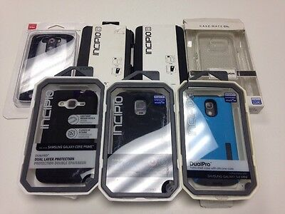 lot of 7 mixed cell phone cases retail package resale apple Samsung Pure gear