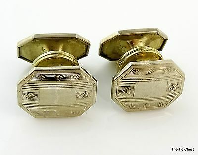 Extremely RARE Vintage 1920s Cufflinks Patented Twin-Latch Snap Style