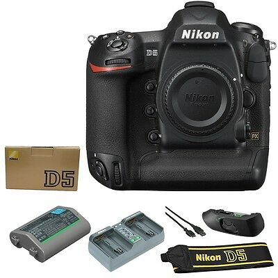 BRAND NEW Nikon D5 Digital SLR Camera Body 20.8 MP (Dual XQD Slots, Black)
