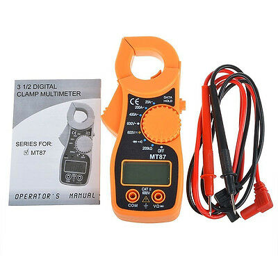 Electronic LCD Clamp Meter Multimeter AC DC Current Amp Ohm Volt Tester MT87